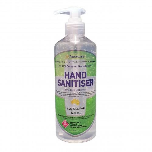 71% Alcohol Instant Hand Sanitiser Gel Australian Made 500ml