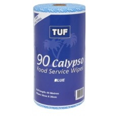 Heavy Duty TUF Blue All Purpose Wipes 90 sheets Antibacterial Wipes per Roll