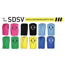 High Visibility Safety Vests Multiple Colours for Day Use and Social Distancing printed options