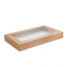 Lid for Kraft Catering Tray / Box - Extra Small (100 per carton)
