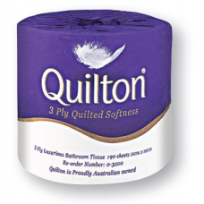 Australian Made Quilton 3ply Premium Toilet Tissue Paper 190 sheets
