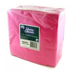2ply Dinner Napkins - Magenta 400 x 400mm