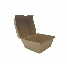 Extra Large Kraft Cardboard Burger Box - 150 per carton
