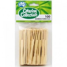 Bamboo Cocktail Forks 9cm - 100/pack