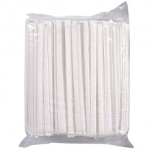 Paper Wrapped Plastic Straws - 1000/ctn