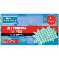 Foodservices Wipes; 450 x 600mm Castaway 20/pk 100/ctn