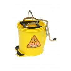 Bucket; 16L yellow With metal mechanism