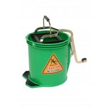 Bucket; 16L green With metal mechanism