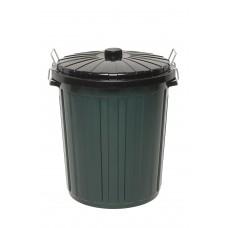 Garbage Bin; with black lid  73L