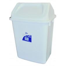 Swing Top Bin; 30L white with lid