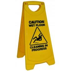 Sign; 'wet floor' A-frame