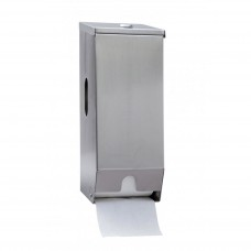 Dispenser; toilet roll dual stainless steel