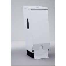 Dispenser; toilet roll 2 roll white metal D2TR