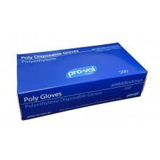 Medium Polyethylene Clear Powder Free Proval Gloves 10 x 500 per carton