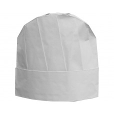 "Chef's Hat; 9"" 230mm white deluxe adjustable 10 x 100pk/ctn"