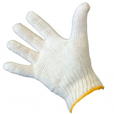 Large Gloves; White interlock cotton 12/pk 144/ctn