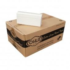 Interleaved Hand Towel; extra large  23 x 37cm 24 x 100pk/ctn 2400/ctn