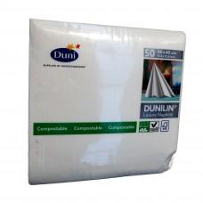 Linen Dinner Napkins; White Dunilin Luxury 12 x 50pk/ctn 600/ctn