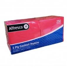 Cocktail Napkins; 2ply red 8 x 250pk/ctn 2000/ctn