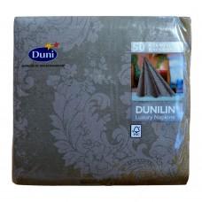 Linen Dinner Napkins; Dunilin Luxury 12 x 50pk 600/ctn - Royal Granite Grey