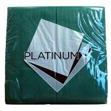 Quilted Dinner Napkins; GT Fold dark green 10 x 50pk