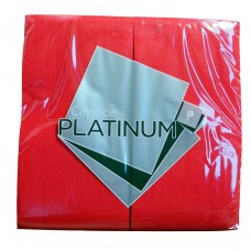 Quilted Dinner Napkins; GT Fold red 10 x 50pk/ctn 500/ctn
