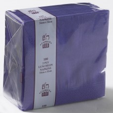 2ply Dinner Napkins - Purple 400 x 400mm