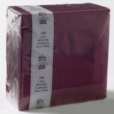 2ply Dinner Napkins - Burgundy 400 x 400mm
