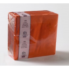 2ply Dinner Napkins - Orange 400 x 400mm