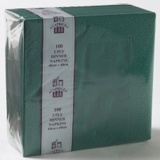 2ply Dinner Napkins - Dark Pine Green 400 x 400mm