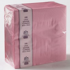 2ply Dinner Napkins - Light Pink 400 x 400mm