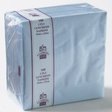 2ply Dinner Napkins - Light Blue 400 x 400mm