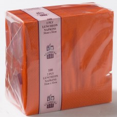 2ply Lunch Napkins - Orange 320 x 320mm