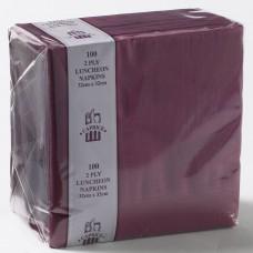 2ply Luncheon Napkins - Burgundy 320 x 320mm