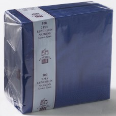 2ply Lunch Napkins - Dark Blue 320 x 320mm