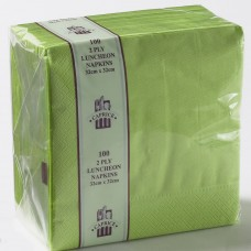 2ply Lunch Napkins - Lime Green 320 x 320mm