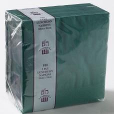 2ply Luncheon Napkins - Dark Green 320 x 320mm