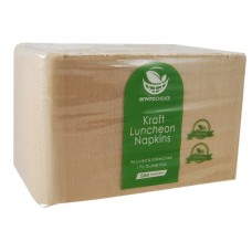 1ply Lunch Napkins - Kraft 3000 per carton