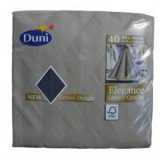 Duni Dinner Napkins Greige Elegance Crystal 40cm 6x40pk