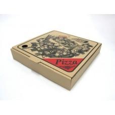 """Pizza Box 13"""" Brown  Printed 50pk"""