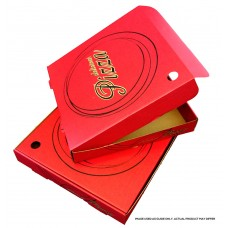 "Pizza Box 9"" Red JF Print 100pk"
