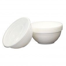1050ml White Food bowl - 400 per carton