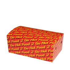 Snack Box; Medium 053 'Hot Food' 172 x 104 x 67mm 250/ctn