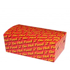 Snack Box; 054 Large 'Hot Food 2 Go' 190 x 114 x 67mm 250/ctn