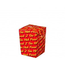 Chip Box; Small 'Hot Food 2 Go' 75x75x100mm 058 500/ctn