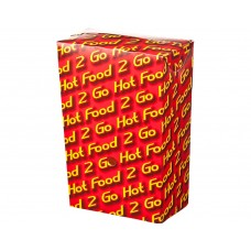 Chip Box; Large 'Hot Food 2 Go' 104x57x151mm 250/ctn