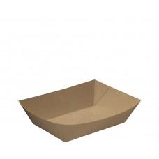 Small #2 Brown Kraft Rediserve® Paper Food Trays  125/pk 500/ctn