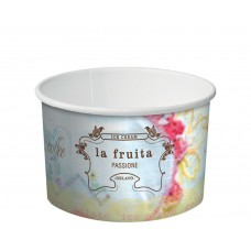 Icecream Cups; Paper 'La Fruita' 8oz 280ml 20 x 50pk/ctn 1000/ctn