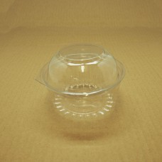 12oz Round Show Bowl Container With Dome Hinged Lid - 250 per carton