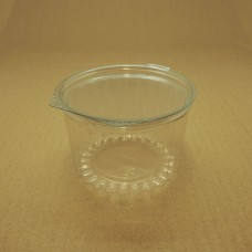 16oz Round Show Bowl Container With Flat Hinged Lid - 250 per carton